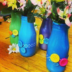 craft pinterest, hands, mothers day ideas, milk bottles, buttons, mimosas, flowers, mothers day crafts, pinterestinspir mother