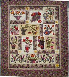Les Fleurs Du Jardin Quilt for sale at Quilt Gallery