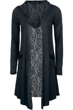 Black lace Cardigan with hood