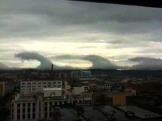 clouds, wave cloud, van, sky, birmingham, kelvinhelmholtz cloud, ocean waves, paints, alabama