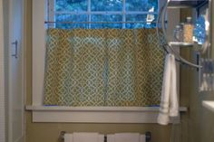 No sew curtains for bathroom (or kitchen)