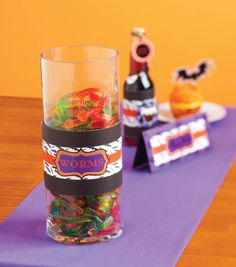 Create cute labels for Halloween favors and party treats with @ZINKhAppy!