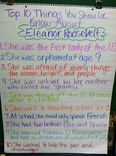 """This pre-biography writing activity was borrowed from one of my amazing colleagues! It's a top ten list like on """"The Late Show,"""" for the top ten things you should know about a famous person. Students identify things they can learn from a biography and then interview a classmate to write their biography."""