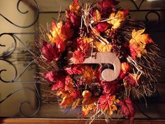 Our Fall wreath!