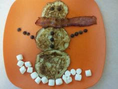 A bit early for snowman pancakes but my baby gets what my baby wants.