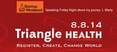 Founder Marty Smith Speaking At Triangle Startup Weekend Friday Night downtown Durham, NC