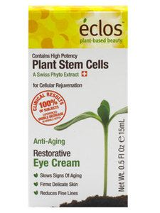 """Eclos Restorative Eye Cream $24.99 ~ Don't settle for crow's feet! This helps """"plump"""" fine lines around the eyes. #eclos #eclosskincare #freemanbeauty #skincare #applestemcells #antiaging"""