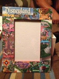 Turn a Disney Park Map Into A Souvenir