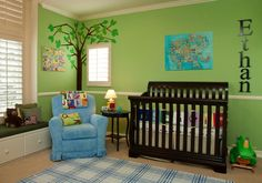 Cute for the green room!   projectnursery.com has great color ideas.