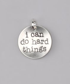 Sterling Silver 'I Can Do Hard Things' Charm