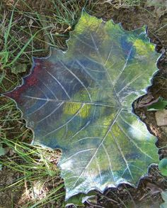 Raku sycamore leaf Sculpture made by me :)  {actually, God made the leaf, I just used some of His clay to make a copy :) }