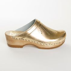 I loved clogs in the 70s and still do.  Love these gold ones!