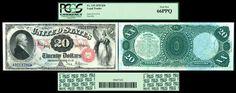 TreasuredStocks.com has this item on Collectors Corner - 1878 $20 Legal Tender Note - PCGS 66PPQ Gem New, with Premium Paper Quality - Fr # 129