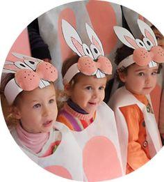 Conillets (bossa de brossa blanca i corona de cartolina)