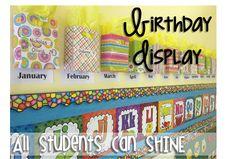 classroom birthday bags, student birthdays, gift bags, classroom decor, child birthday