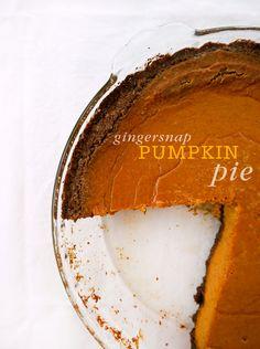 Gingersnap Pumpkin Pie Gingersnap Pumpkin Pie