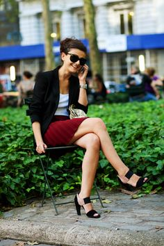 On the Street….Red & Black, NYC « The Sartorialist
