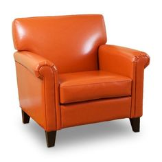 Find it at the Foundary - Burnt Orange Classic Leather Club Chair