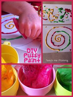 Creative Little Hands #14 - Painting with DIY Puffy Paint! Easy recipe!