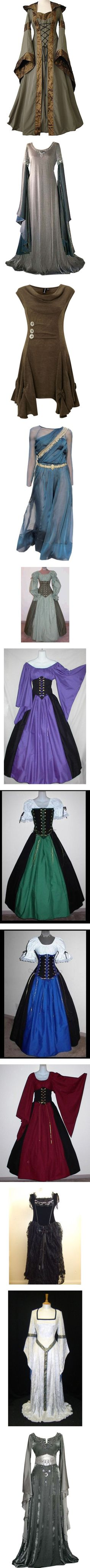 """""""Medival Dresses 1"""" by kia on Polyvore. I WANT THEM ALL I NEED THEM ALL TAKE MY MONEY!!!!"""