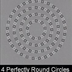 illusion of optics.