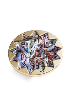 House of Harlow 1960 Sunburst Abalone Ring by Swank Boutique Online