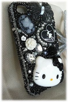 Black and White Hello Kitty iPhone case