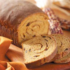 Swirled Pumpkin Yeast Bread Recipe