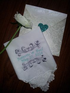 Wedding Handkerchiefs Personalized Custom Embroidery Hanky