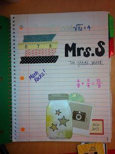 Interactive Notebook Set Up for 7th Grade Math- Slideshow located at http://www.4mulafun.blogspot.com/2012/09/inbs-so-far.html