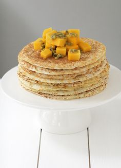 Tropical Coconut Pancakes with Mango & Passion Fruit | Save recipes ...