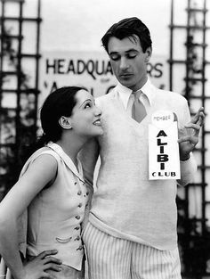 Lupe Velez checks up on boyfriend Gary Cooper, but he has joined the Alibi Club, a publicity gimmick cooked up by Roland West to promote his film Alibi