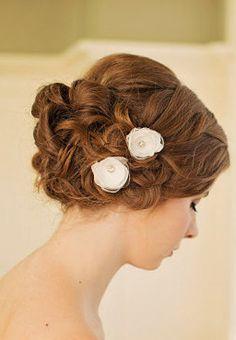 Ivory Wedding Hair Flower / Bridal Hair Flower