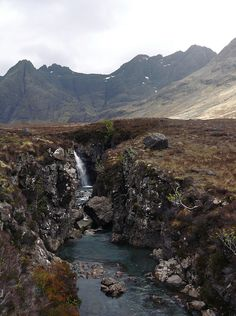 The Black Cuillin and the Fairy Pools, Isle of Skye, Scotland