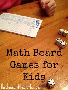 homeschool board games, kids board games, education games, educational math board games, activities for elementary kids, homeschool math games, elementary games