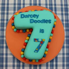 How to make a number 7 birthday cake