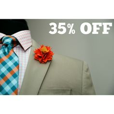 35% OFF LAPEL FLOWERS  USE CODE : LAPEL35 WWW.KINGKRAVATE.COM