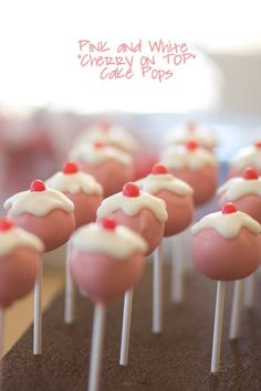 @Keri Whaitiri Whaitiri Whaitiri Whaitiri Picone just made some cherry cakepops with her new cakepop maker. They were great!!