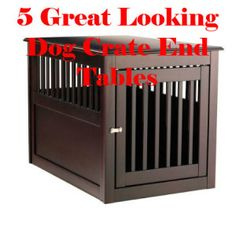 build a dog crate end table