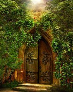 the doors, castl, secret gardens, magical places, garden gates, portal, garden doors, beauti, church door
