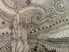 Starry Night Zentangle