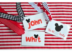 diy disney bag tags - made these...so cute and easy to DIY