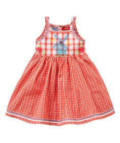 This Red Gingham Windmill Dress - Toddler & Girls by Oilily is perfect! #zulilyfinds