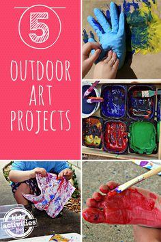 5 {Outdoor} Kids Art Projects - http://kidsactivitiesblog.com/46851/5-kids-art-projects