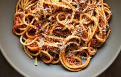 Bucatini with Butter-Roasted Tomato Sauce - Bon Appétit