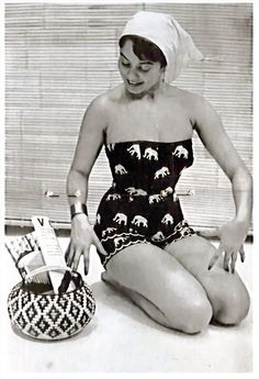 This has to be one of the cutest elephant print playsuits of all time! #vintage #1950s #fashion #summer