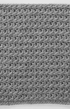 Double Crochet & Slip Stitch Square for Checkerboard Textures Throw
