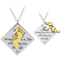 God Will Bring You Through Necklace at Hope Faith Love