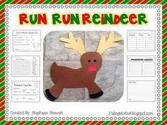 Run Run Reindeer {Christmas Craftivity & Writing}