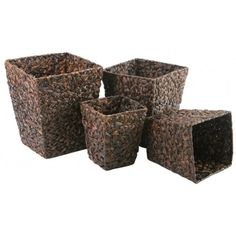 Storage Baskets - Square - Set of Four - Water Hycinth £99.99